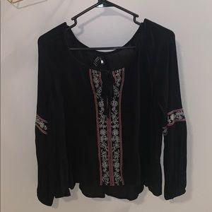 Forever 21 black flowy blouse